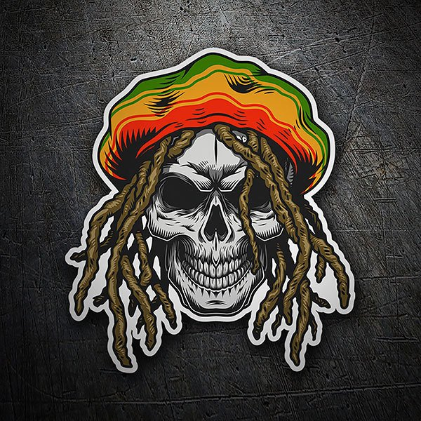 Car & Motorbike Stickers: Rasta skull