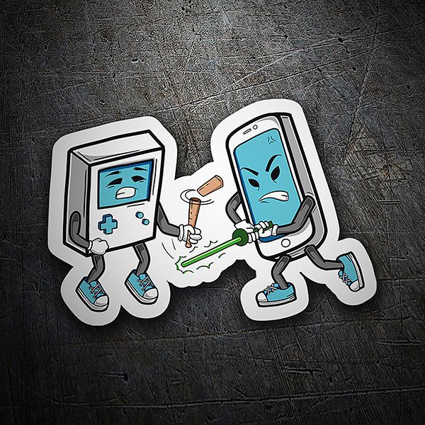 Car & Motorbike Stickers: Game Boy vs Smartphone
