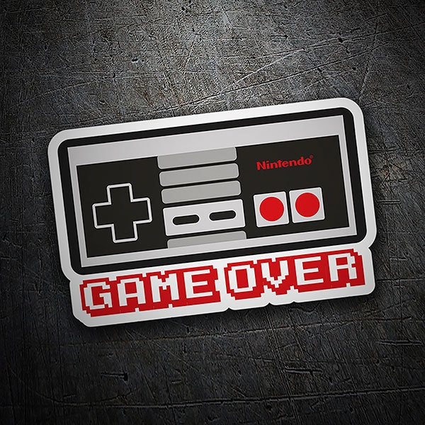 Car & Motorbike Stickers: Game Over Nintendo Controller