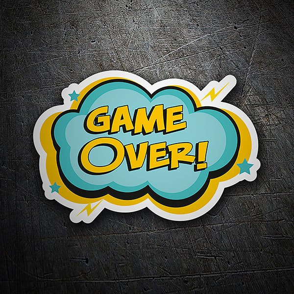 Car & Motorbike Stickers: Game Over