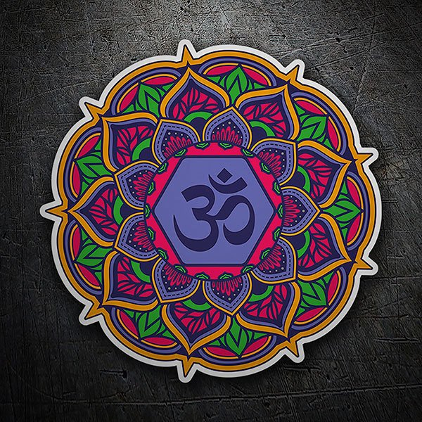 Car & Motorbike Stickers: Mandala Om