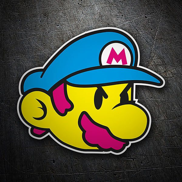 Car & Motorbike Stickers: Mario Bros Classic