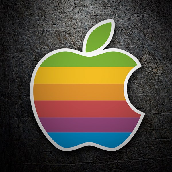 Car & Motorbike Stickers: Apple Retro