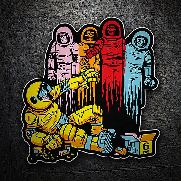 Car & Motorbike Stickers: Ghosts attack Pacman