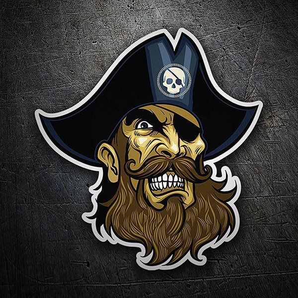 Car & Motorbike Stickers: Pirate Captain