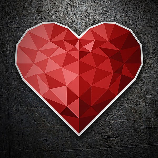 Car & Motorbike Stickers: Geometric heart