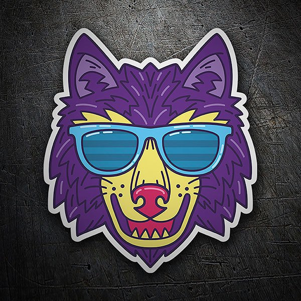 Car & Motorbike Stickers: Chic wolf