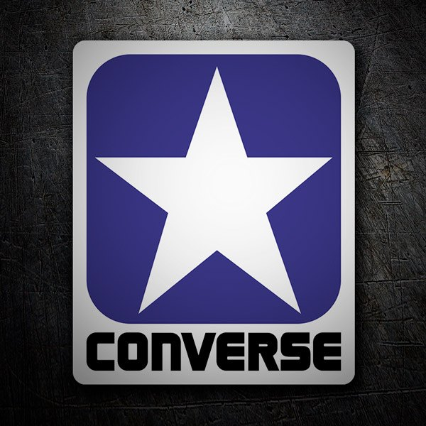 Car & Motorbike Stickers: Converse blue