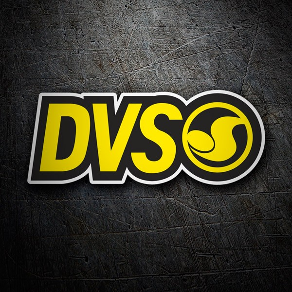 Car & Motorbike Stickers: DVS jaune