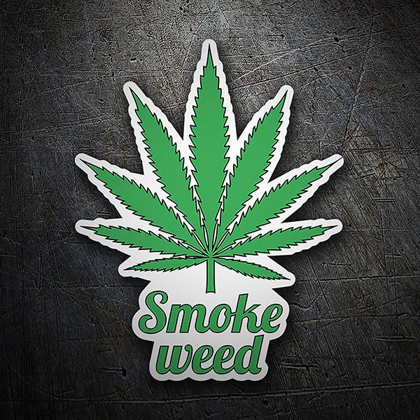 Car & Motorbike Stickers: Smoke Weed