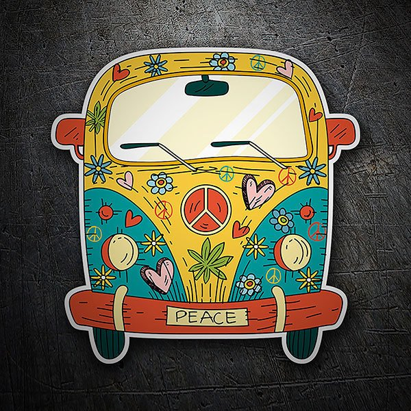 Car & Motorbike Stickers: Hippie Peace Van