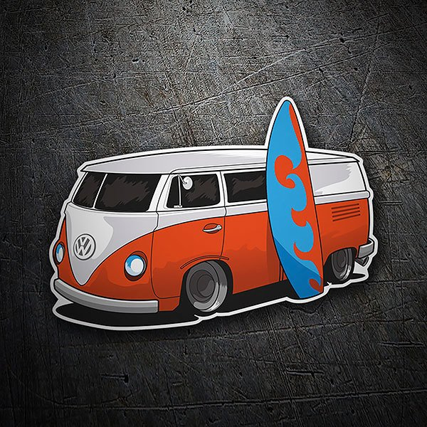 Car & Motorbike Stickers: Surf van