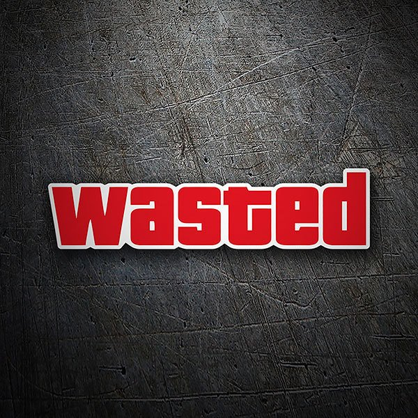 Car & Motorbike Stickers: Wasted