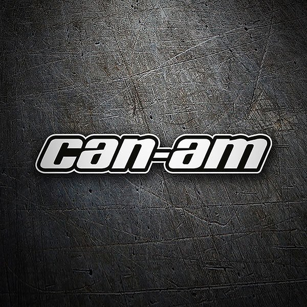Car & Motorbike Stickers: Can-Am typography
