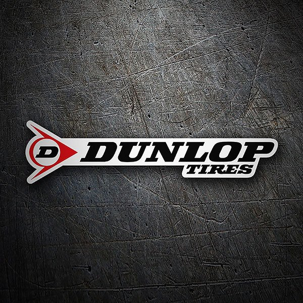 Car & Motorbike Stickers: Dunlop Tires Logo