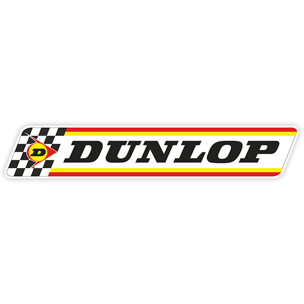 Car & Motorbike Stickers: Dunlop 70th Anniversary