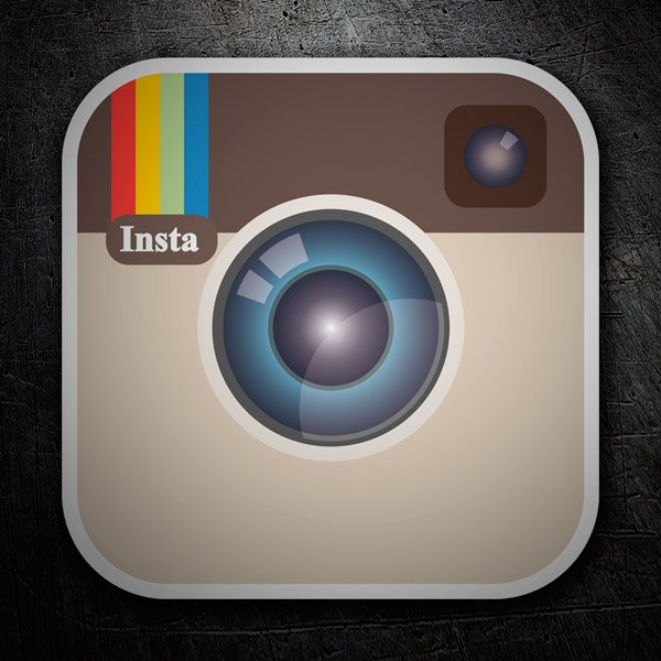 Car & Motorbike Stickers: Instagram Retro