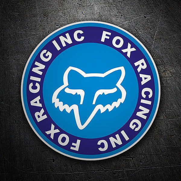 Car & Motorbike Stickers: Fox Racing circular