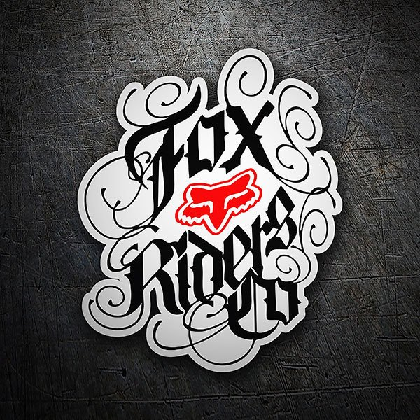 Car & Motorbike Stickers: Fox Riders Co tattoo