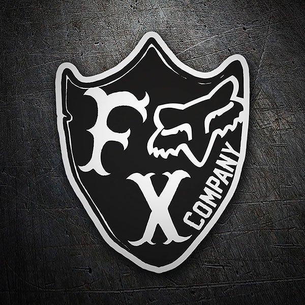 Car & Motorbike Stickers: Fox Racing Company Shield