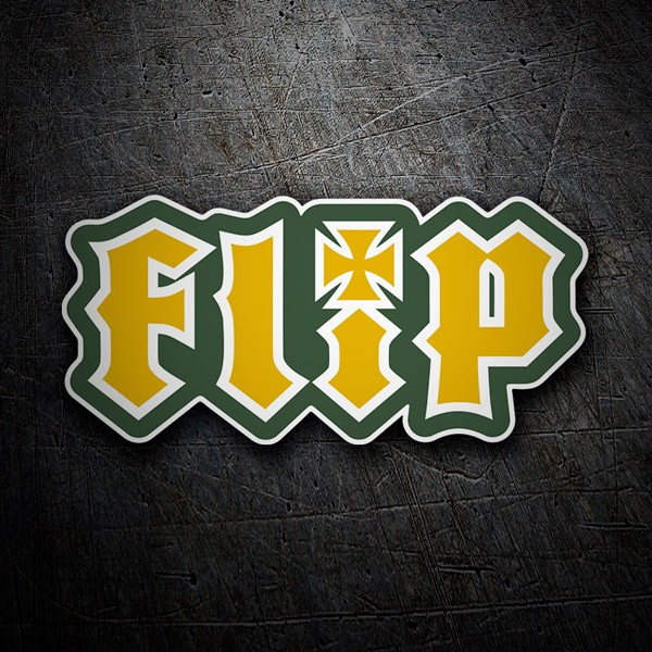 Car & Motorbike Stickers: Flip yellow