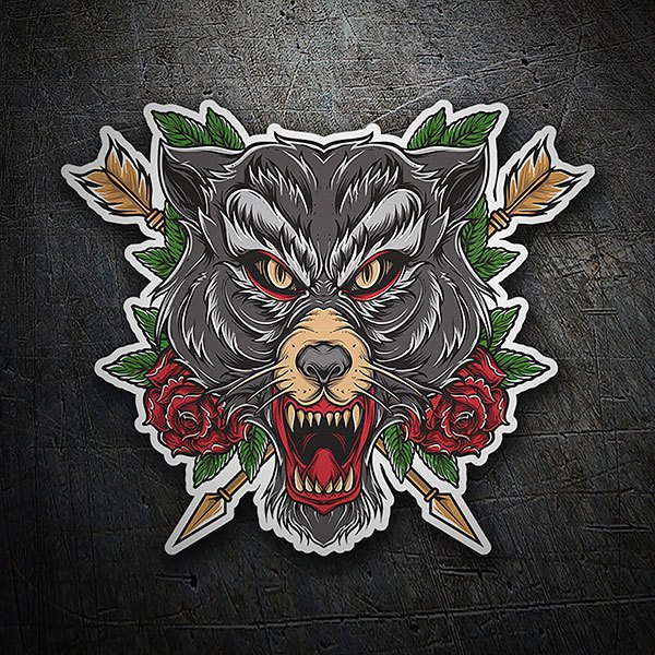 Car & Motorbike Stickers: Wolf Tattoo