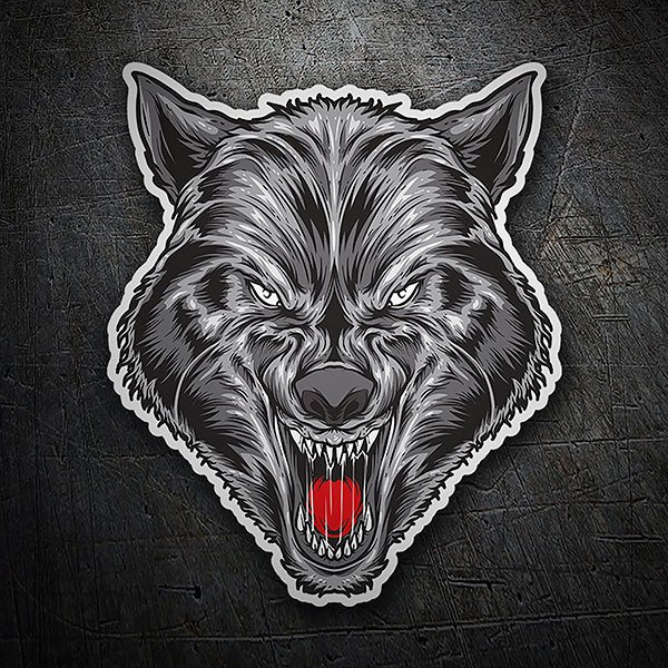 Car & Motorbike Stickers: Thirsty wolf