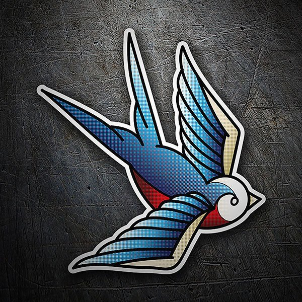 Car & Motorbike Stickers: Swallow tattoo