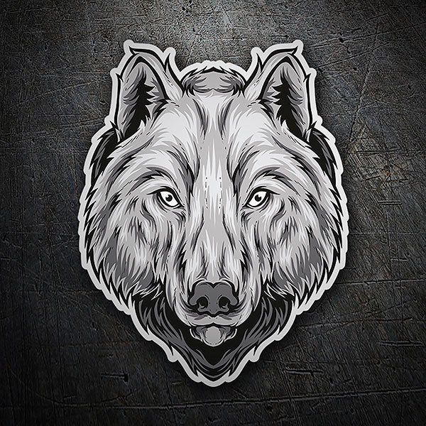 Car & Motorbike Stickers: Attentive wolf