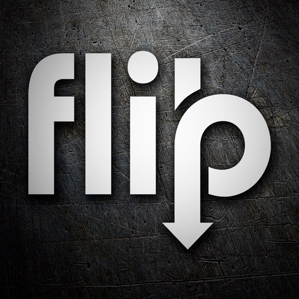 Car & Motorbike Stickers: Flip arrow