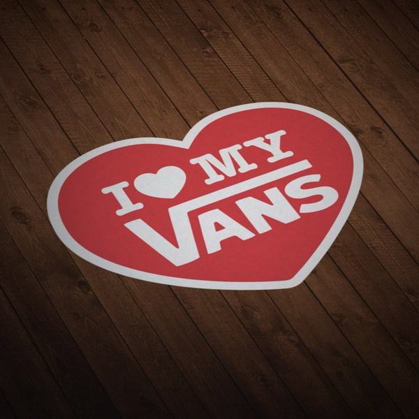 Car & Motorbike Stickers: I love my Vans red