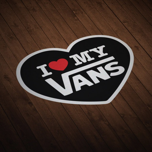 Car & Motorbike Stickers: I love my Vans black