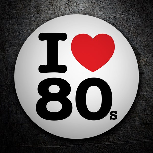 Car & Motorbike Stickers: I love 80s