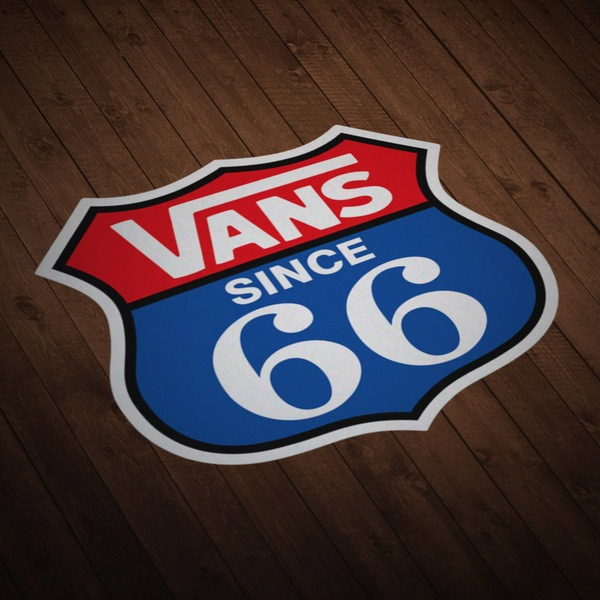 Car & Motorbike Stickers: Vans Route 66