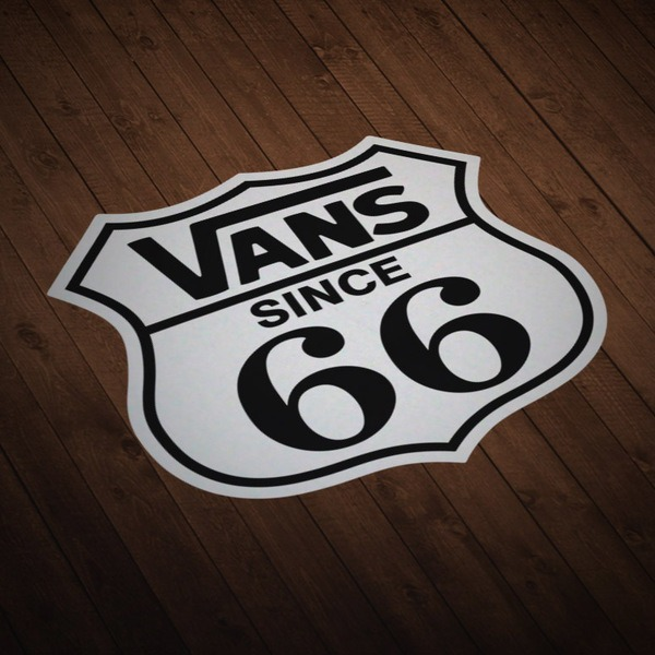 Car & Motorbike Stickers: Vans Route 66 white