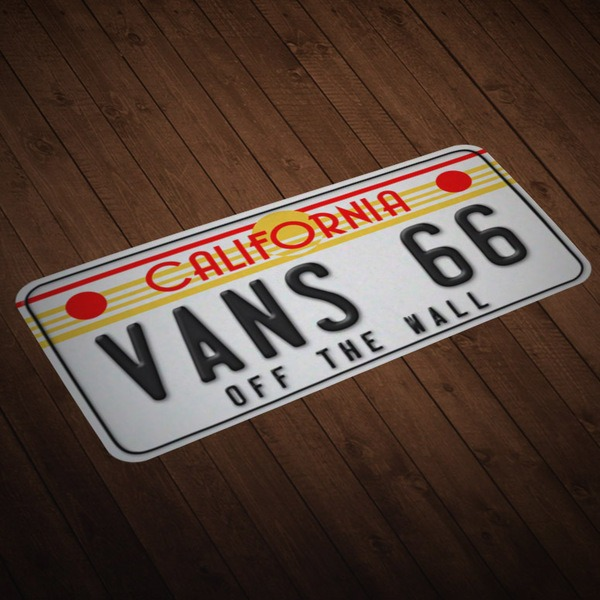 Car & Motorbike Stickers: License plate Vans 66