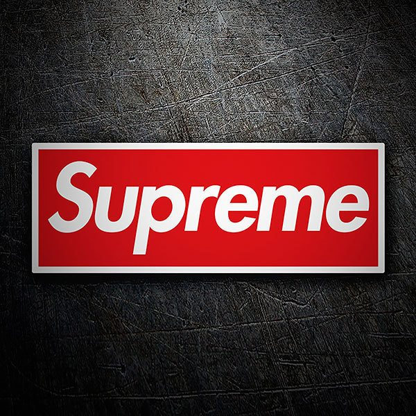 Car & Motorbike Stickers: Supreme