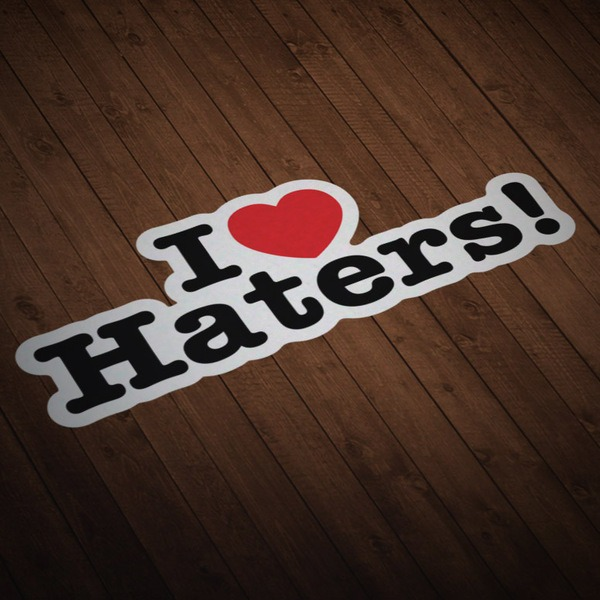 Car & Motorbike Stickers: I love Haters!