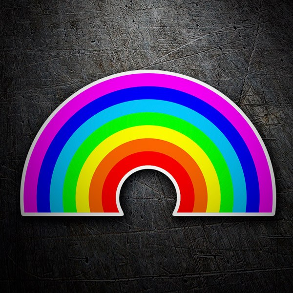 Car and Motorbike Stickers: Rainbow