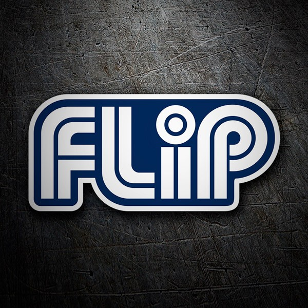 Car & Motorbike Stickers: Flip blue