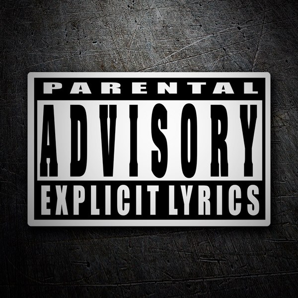 Car & Motorbike Stickers: Parental Advisory Explicit Lyrics