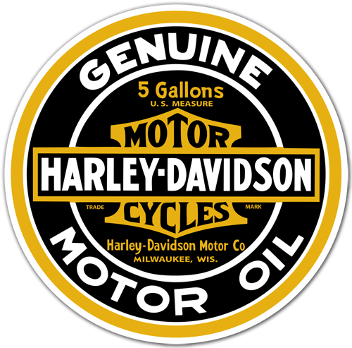 Car & Motorbike Stickers: Genuine Harley Davidson Motor Oil