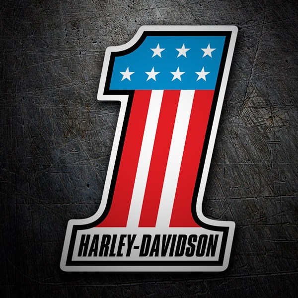 Car & Motorbike Stickers: Harley Davidson #1 USA