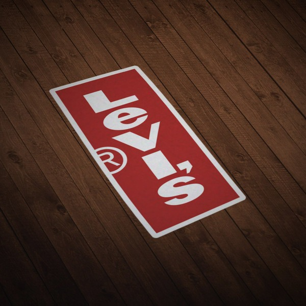 Car & Motorbike Stickers: Levis Vertical