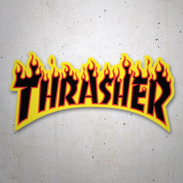 Car & Motorbike Stickers: Thrasher fire