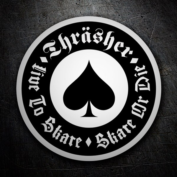 Car & Motorbike Stickers: Thrasher Ace of spades