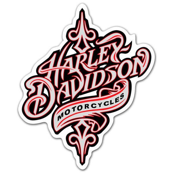 Sticker Harley Davidson Motorcycles MuralDecalcom - Harley davidsons motorcycles stickers
