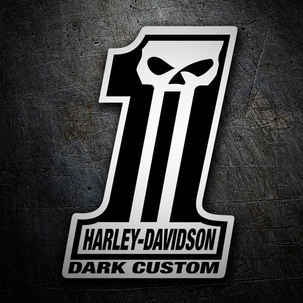 Car & Motorbike Stickers: Harley Davidson #1 Dark Custom