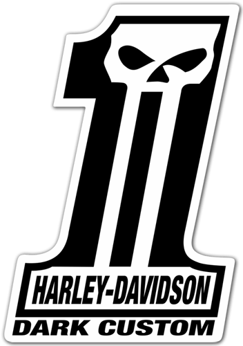 Car & Motorbike Stickers: Harley Davidson #1 Dark Custom 0