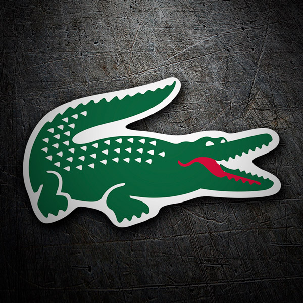 Car & Motorbike Stickers: Lacoste crocodile